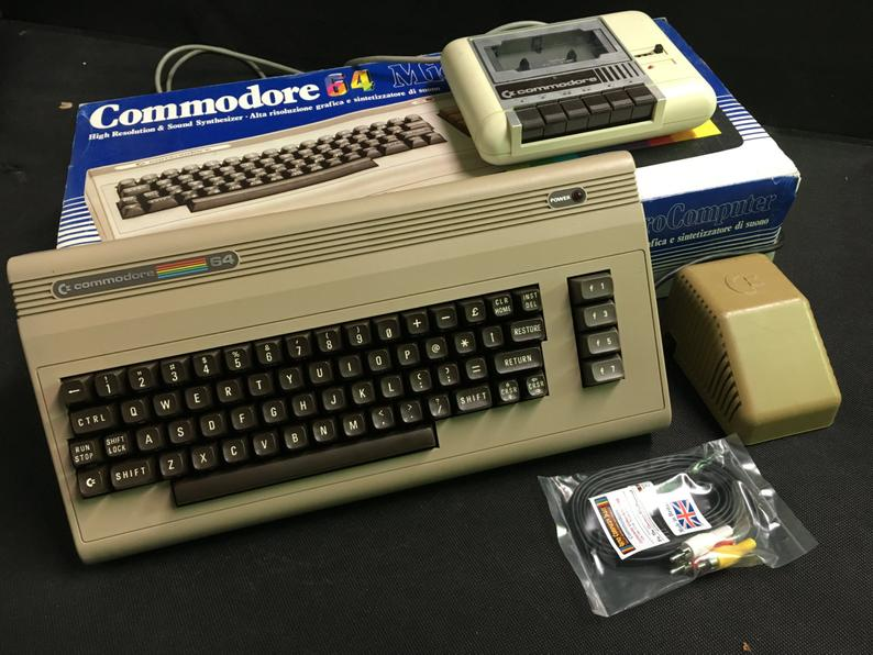 Commodore 64 set Boxed Original with video cable & tape