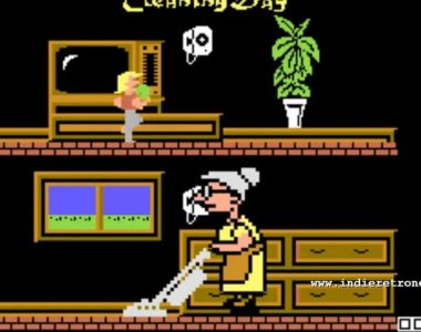 Granny's Cleaning Day - A game and watch homage gets a release on the C64